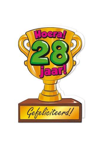 Wenskaart Trofee - 28 Jaar