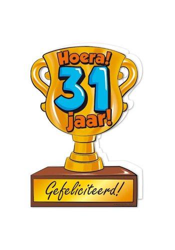 Wenskaart Trofee - 31 Jaar