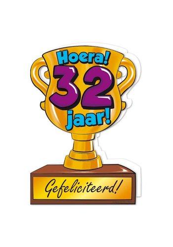 Wenskaart Trofee - 32 Jaar