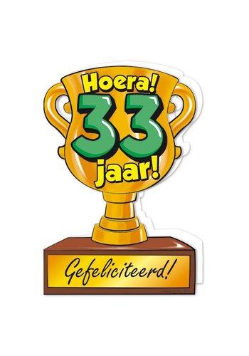 Wenskaart Trofee - 33 Jaar