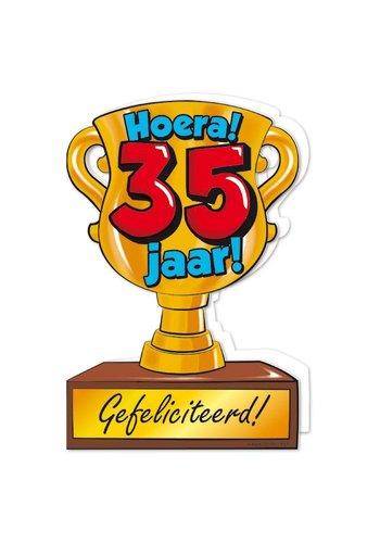 Wenskaart Trofee - 35 Jaar