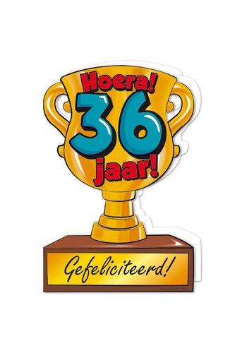 Wenskaart Trofee - 36 Jaar