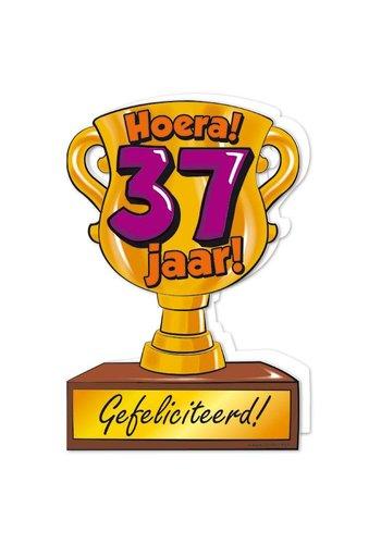 Wenskaart Trofee - 37 Jaar