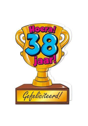Wenskaart Trofee - 38 Jaar