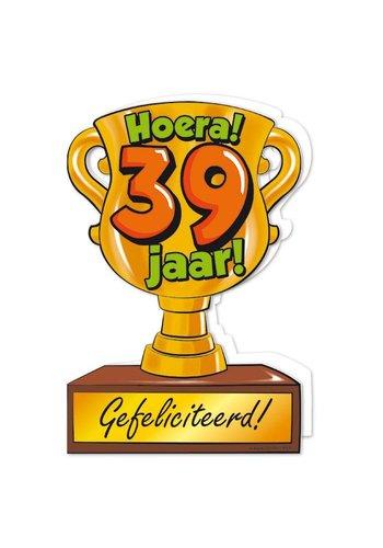 Wenskaart Trofee - 39 Jaar