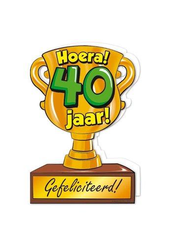 Wenskaart Trofee - 40 Jaar