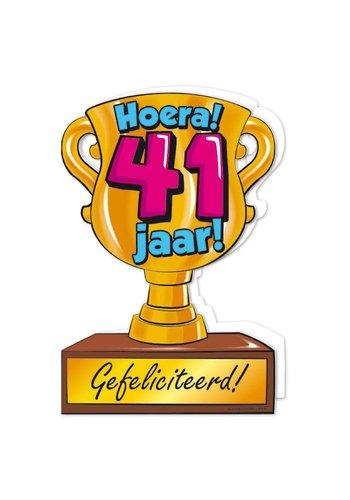 Wenskaart Trofee - 41 Jaar