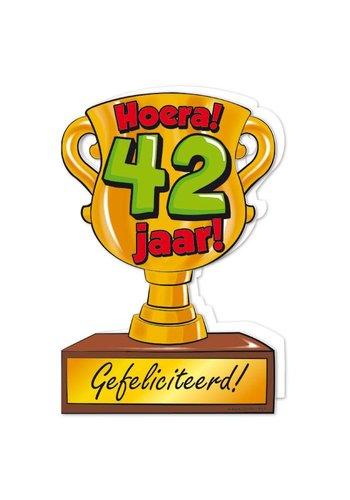 Wenskaart Trofee - 42 Jaar