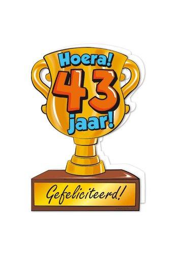 Wenskaart Trofee - 43 Jaar