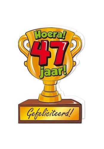 Wenskaart Trofee - 47 Jaar