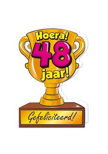 Wenskaart Trofee - 48 Jaar