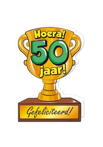 Wenskaart Trofee - 50 Jaar