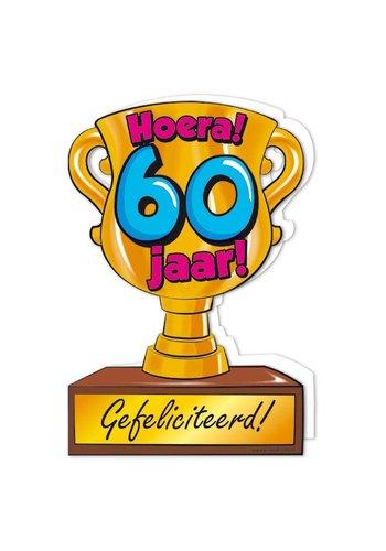 Wenskaart Trofee - 60 Jaar