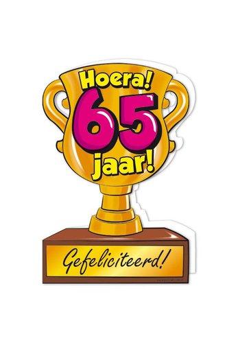 Wenskaart Trofee - 65 Jaar