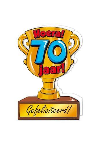 Wenskaart Trofee - 70 Jaar
