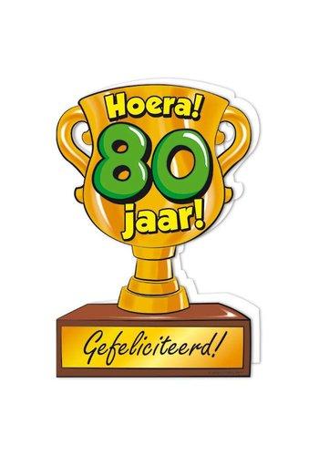 Wenskaart Trofee - 80 Jaar