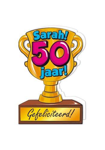 Wenskaart Trofee - Sarah