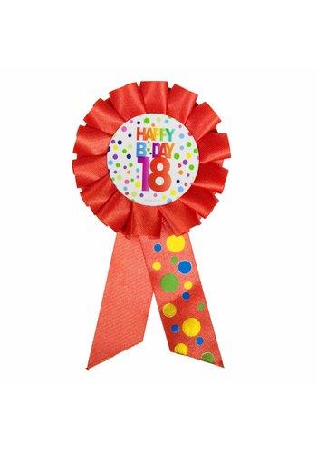 Rozet Rainbow Happy Birthday 18