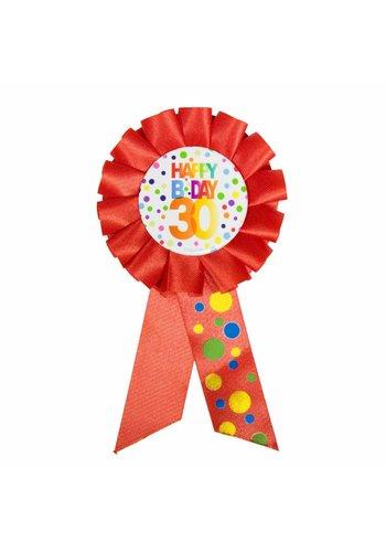 Rozet Rainbow Happy Birthday 30