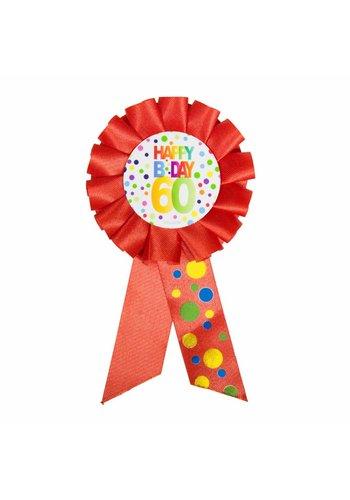 Rozet Rainbow Happy Birthday 60
