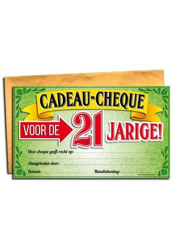 Gift Cheque - 21 jaar