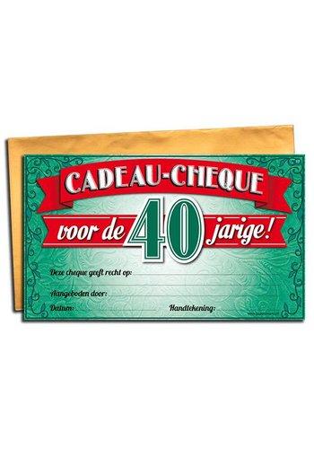 Gift Cheque - 40 jaar