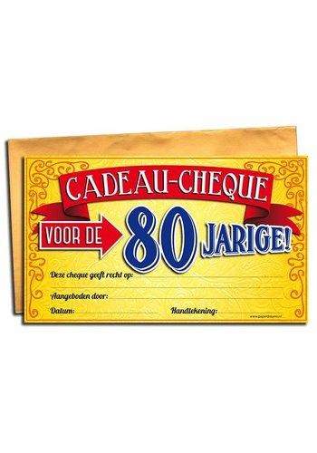 Gift Cheque - 80 jaar