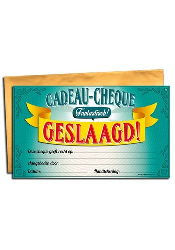 Gift Cheque - Geslaagd