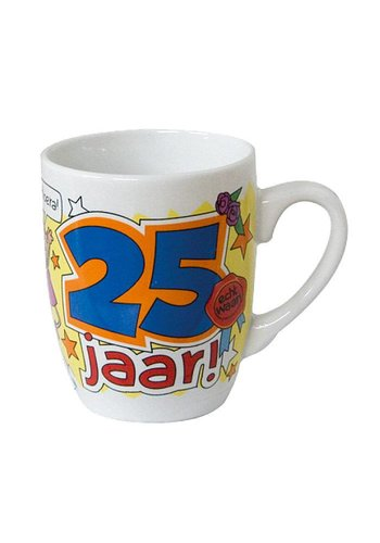 Cartoon mok - 25 jaar