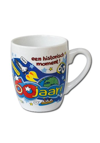 Cartoon mok - 60 jaar