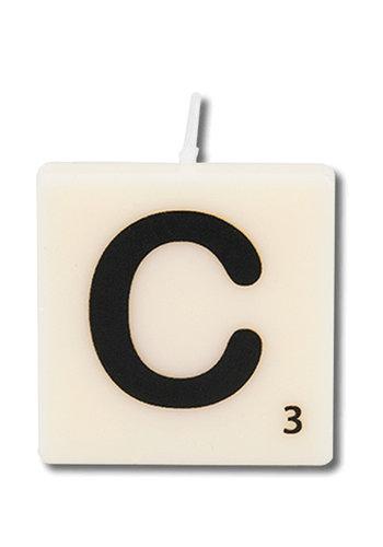 Letter kaarsje - C