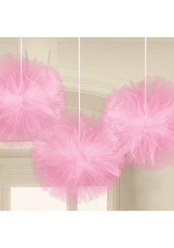 Tule Wedding Decoration - Roze - 3 stuks