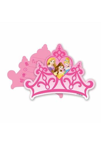 Disney Princess Uitnodigingen -  6 stuks