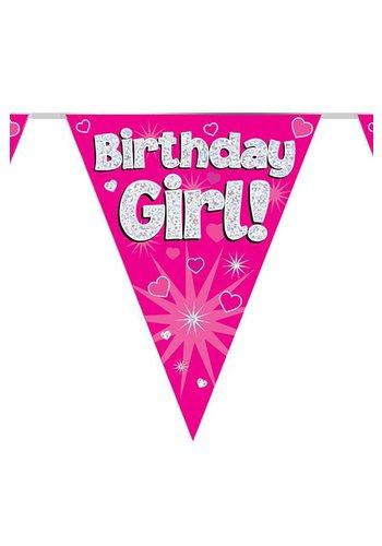 Vlaggenlijn Glitter Birthday Girl - 3,9mtr