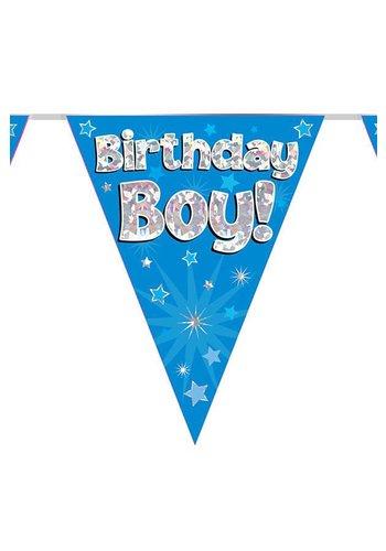 Vlaggenlijn Glitter Birthday Boy - 3,9mtr