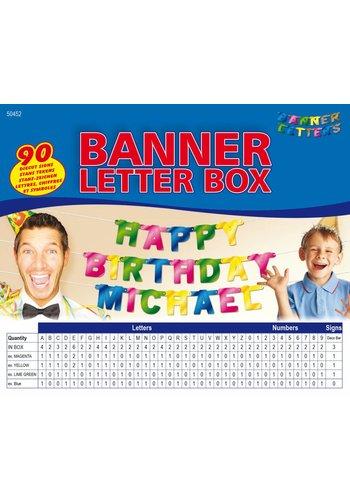 Set gekleurd - Maak je eigen persoonlijke Letterslinger