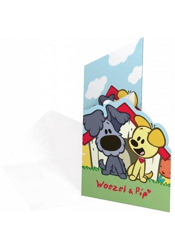 Woezel & Pip Uitnodigingen - 8 stuks