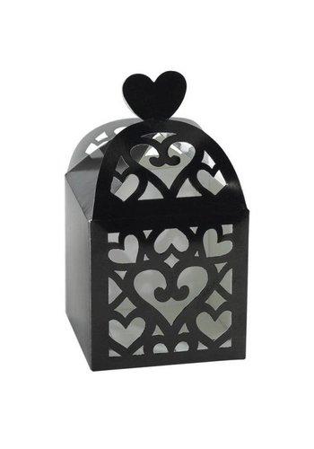 Favour Boxes Colourful Wedding black - 50 stuks - 6.3x6.3x6.3cm