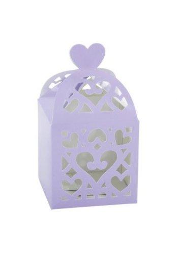 Favour Boxes Colourful Wedding Lilac - 50 stuks - 6.3x6.3x6.3cm