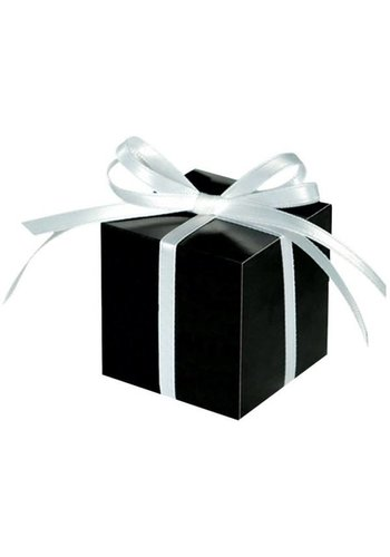 Treat Boxes Colourful Wedding Black - 100 stuks - 5.7x5.7x5.7cm