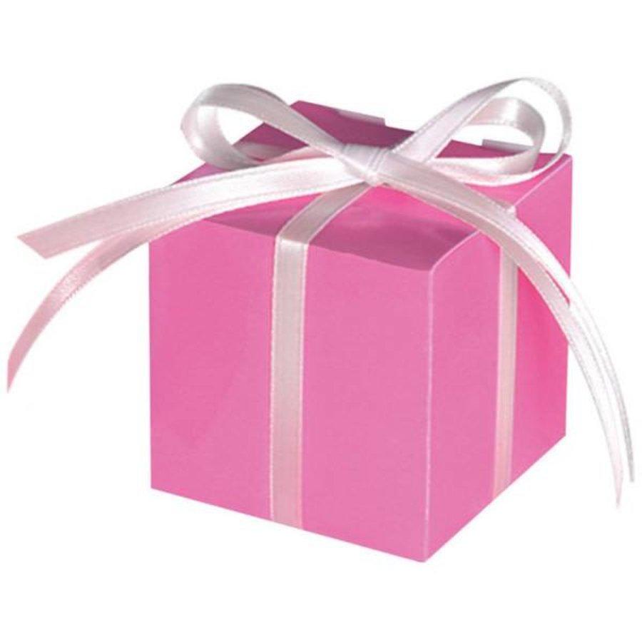 Treat Boxes Colourful Wedding Pink - 100 stuks - 5.7x5.7x5.7cm-1