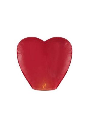 Wensballon Rood hart 75x38cm
