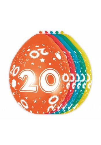 Ballonnen 20 - 30cm - 5 stuks
