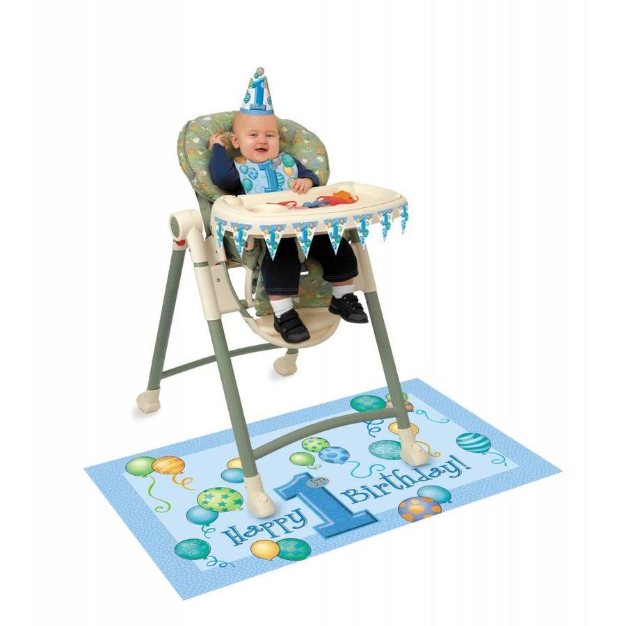 1st Birthday boy stoel versiering-1
