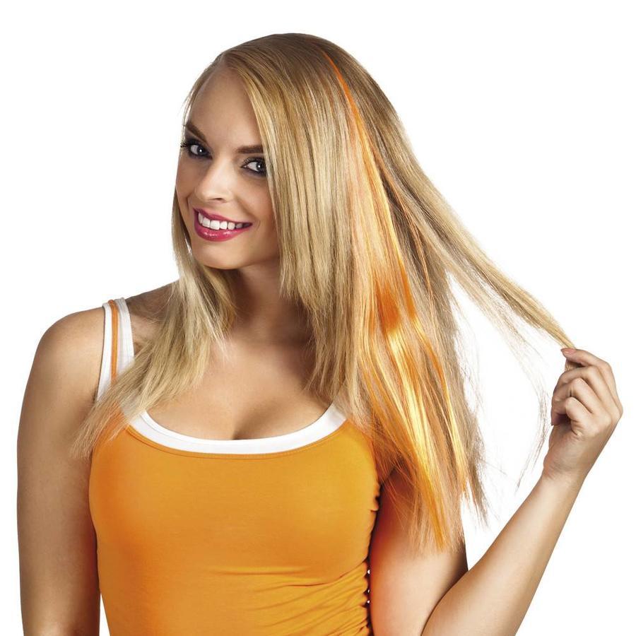 Hairextension oranje-1