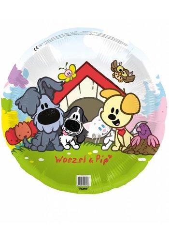 Woezel en Pip folieballon - 45cm