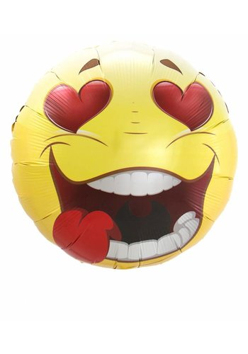 Smiley Love Folieballon - 45cm