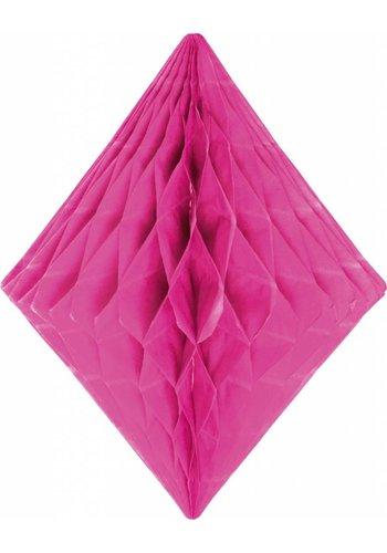Honeycomb Diamant Hot Pink - 30cm