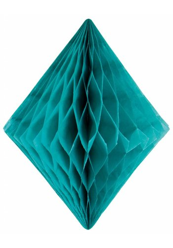 Honeycomb Diamant Turquoise - 30cm
