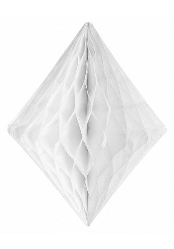 Honeycomb Diamant Wit - 30cm